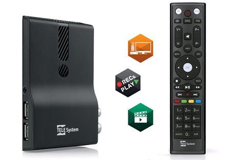 TeleSystem TS 6810RF Stealth DVB-T2 H.265 HEVC přijímač; TS6810RF