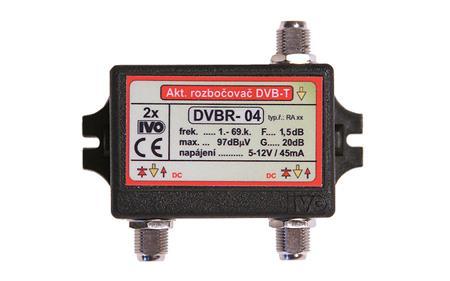 """IVO DVBR-04 aktivní rozbočovač 2x výstup""""F"""" 20dB zisk; IVDVBR04"""