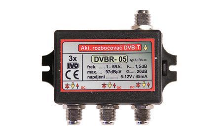"""IVO DVBR-05 aktivní rozbočovač 3x výstup""""F"""" 20dB zisk; IVDVBR05"""