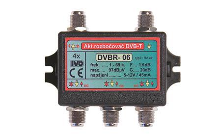 """IVO DVBR-06 aktivní rozbočovač 4x výstup""""F"""" 20dB zisk; IVDVBR06"""