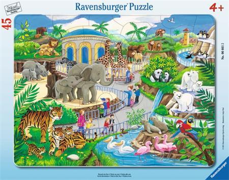 RAVENSBURGER Puzzle Návštěva v ZOO 45 dílků; 9793