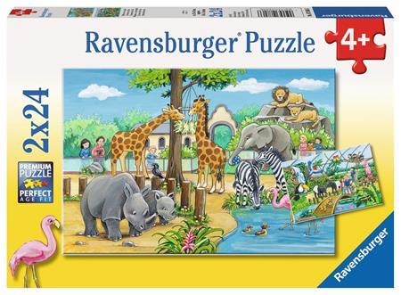 RAVENSBURGER Puzzle Vítejte v Zoo 2x24 dílků; 125376