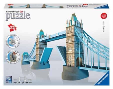 RAVENSBURGER 3D puzzle Tower Bridge, Londýn 216 dílků; 3788