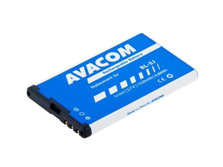 AVACOM Baterie do mobilu Nokia 5230, 5800, X6 Li-Ion 3,7V 1320mAh (náhrada BL-5J); GSNO-BL5J-S1320