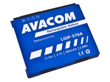 AVACOM Baterie do mobilu LG KP500 Li-Ion 3,7V 880mAh (náhrada LGIP-570A); GSLG-KP500-S880A