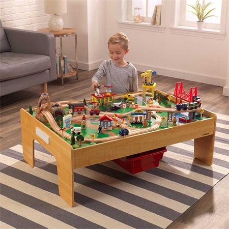 KIDKRAFT Skládací herní stůl s vláčkodráhou; 24752