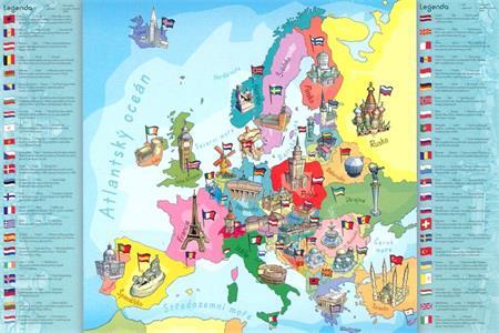 TREFL Puzzle Mapa Evropy 200 dílků; 117640