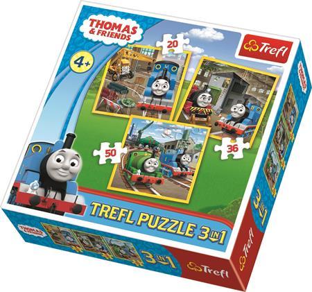 TREFL Puzzle Mašinka Tomáš: Do akce! 3v1 (20,36,50 dílků); 116835