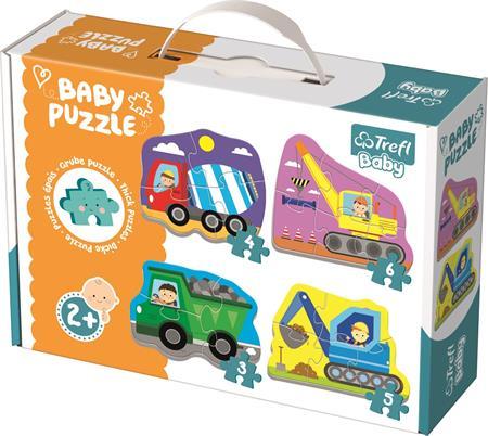 TREFL Baby puzzle Vozidla na stavbě 4v1 (3,4,5,6 dílků); 122585