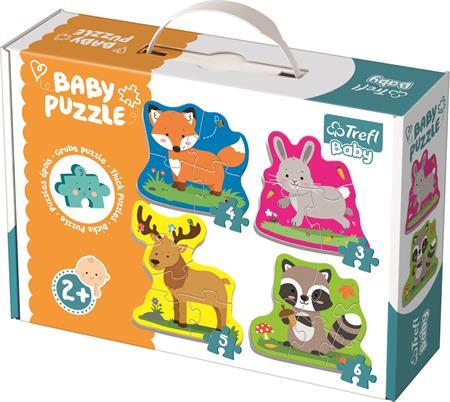 TREFL Baby puzzle Zvířata v lese 4v1 (3,4,5,6 dílků); 122582