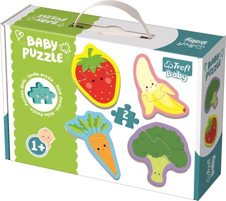 TREFL Baby puzzle Ovoce a zelenina 4x2 dílky; 122589
