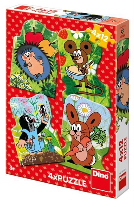 DINO Puzzle Krtek 4x12 dílků; 2551