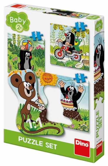 DINO Baby puzzle Krtek na louce 3v1 (3,4,5 dílků); 122409