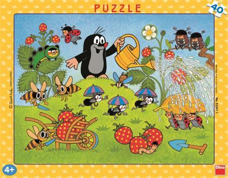 DINO Puzzle Krtek a jahody 40 dílků; 2100