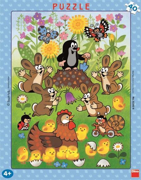 DINO Puzzle Krtek a jaro 40 dílků; 878