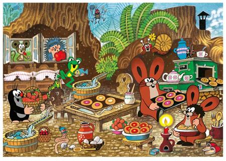DINO Puzzle Krtek v kuchyni XL 100 dílků; 123763