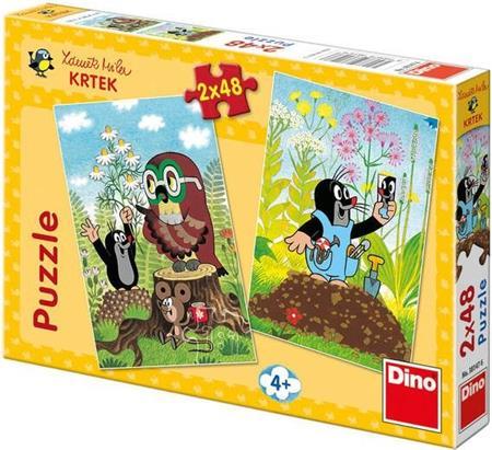 DINO Puzzle Krtek na mýtině 2x48 dílků; 114939