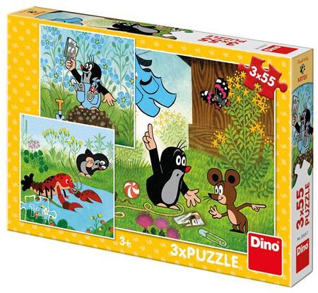 DINO Puzzle Krtek a kalhotky 3x55 dílků; 3918
