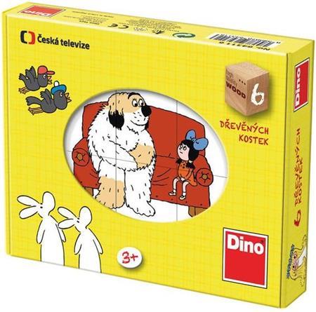 DINO Obrázkové kostky Pohádky, 6 kostek; 114994