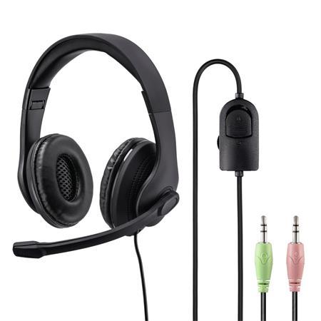 Hama PC Office stereo headset HS-P200, černý; 139923