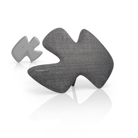 Thomson ANT1639 aktivní pokojová anténa Sculpture, DVB-T/DVB-T2, textilní povrch, šedá; 132193