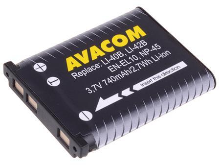 AVACOM baterie - Olympus Li-40B, Li-42B, Fujifilm NP-45, Nikon EN-EL10 Li-Ion 3.7V 740mAh 2.7Wh; DIOL-LI40-AVA