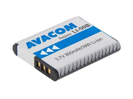 AVACOM baterie - Olympus Li-50B, Pentax D-LI92 Li-Ion 3.7V 800mAh 3Wh; DIOL-LI50-AVA