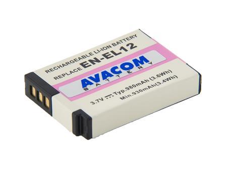 AVACOM baterie - Nikon EN-EL12 Li-Ion 3.7V 980mAh 3.6Wh; DINI-EL12-734