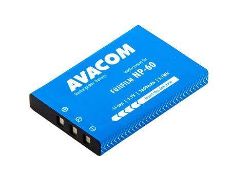 AVACOM baterie - Fujifilm NP-60, Kodak KLIC-5000, Olympus LI-20B, Samsung SLB-1037, SLB-1137 Li-Ion 3.7V 1000mAh 3.7Wh; DIFU-NP60-309N2