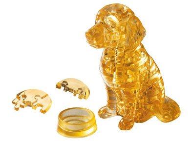 HCM KINZEL 3D Crystal puzzle Štěně zlatý retrívr 41 dílků; 3340
