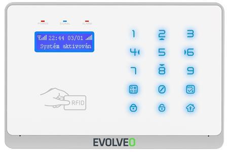 Evolveo Salvarix, bezdrátový WiFi&GSM alarm s čtečkou RFID; ALM303