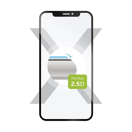 FIXED Ochranné tvrzené sklo Full-Cover pro Xiaomi Redmi Note 8T, lepení přes celý displej, černé; FIXGFA-455-BK