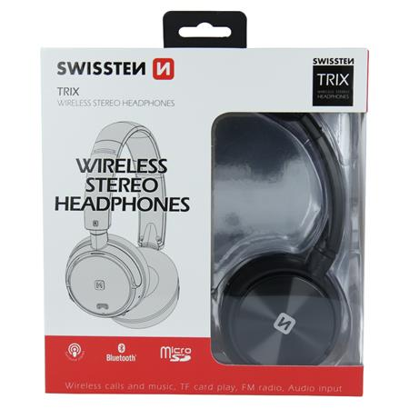 Swissten TRIX, černé - bluetooth stereo sluchátka; 52510500