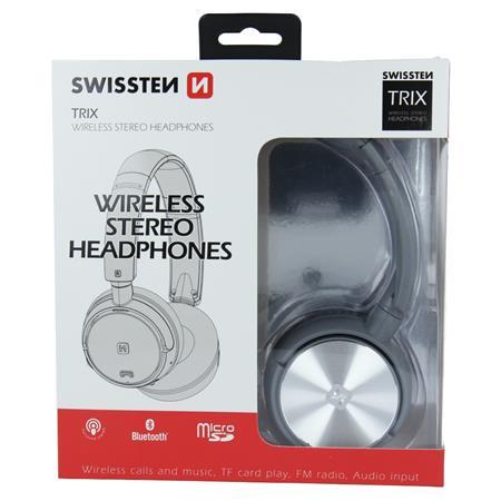 Swissten TRIX, šedé - bluetooth stereo sluchátka; 52510501