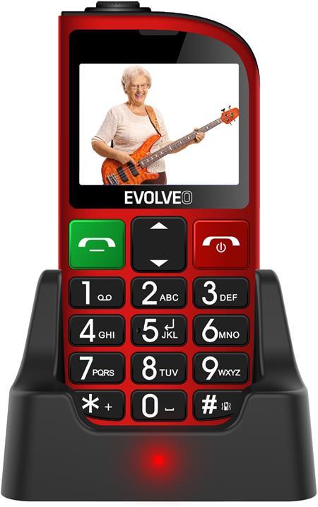 Evolveo EasyPhone FM, červený; EP-800-FMR