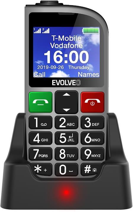 Evolveo EasyPhone FM, stříbrný; EP-800-FMS