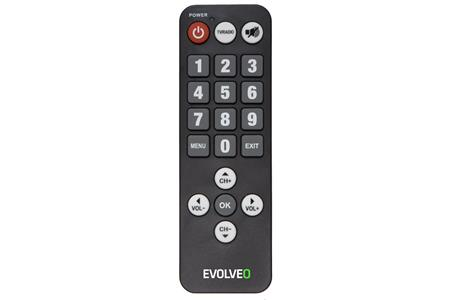 Evolveo Seniorský dálkový ovladač pro Alpha T2 a Omega II; REM 3055/3065