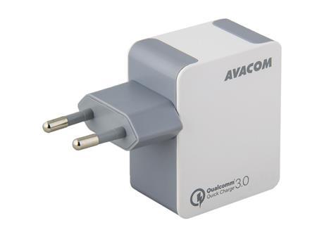 AVACOM HomeMAX síťová nabíječka Qualcomm Quick Charge 3.0, bílá; NASN-QC1X-WW