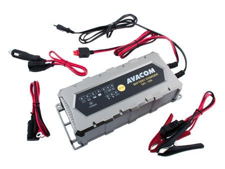 AVACOM Automatická nabíječka AVACOM 12V 10A pro olověné AGM/GEL akumulátory (20 - 200Ah); NAPB-A100-012