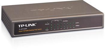 TP-Link TL-SF1008P 8 x 10/100 Mbs + 1 x uplink, 4 x POE port