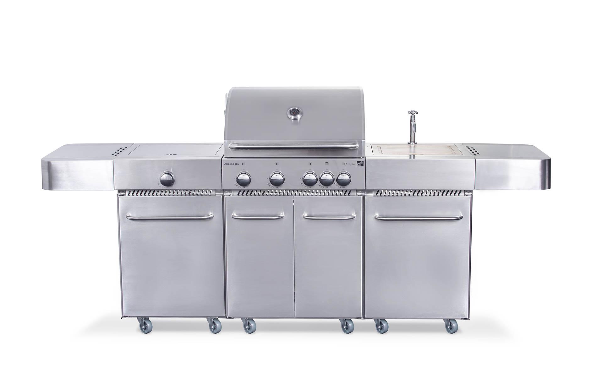 Plynový gril G21 Arizona, BBQ kuchyně Premium Line 6 hořáků + zdarma redukční ventil; GA-BBQARZ