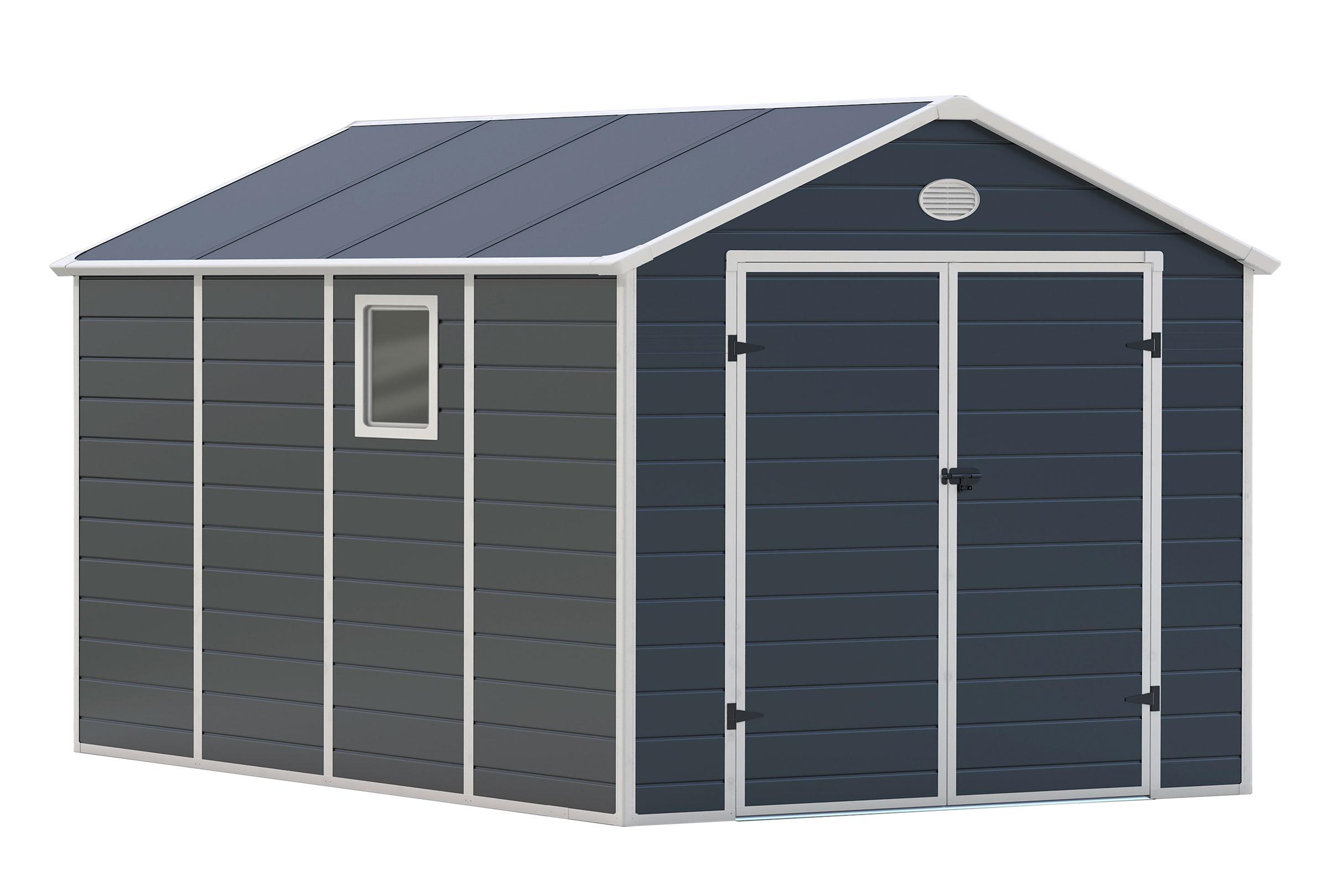 Zahradní domek G21 PAH 882 - 241 x 366 cm, plastový, šedý; PAH 882