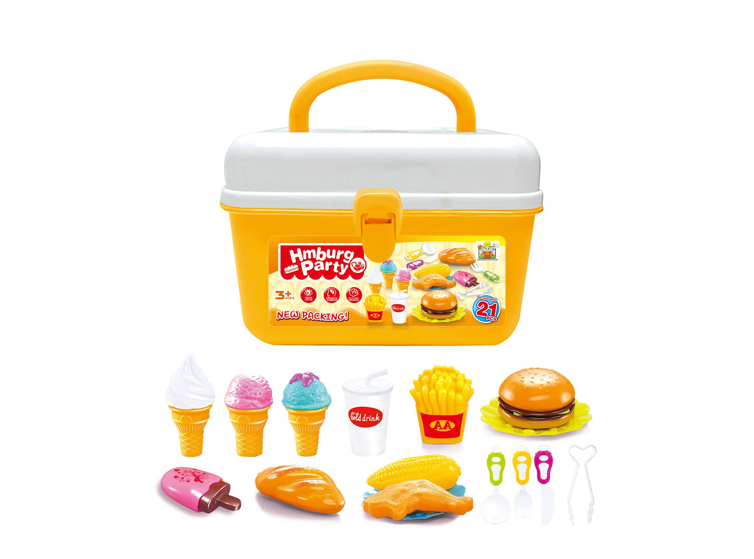 Hračka G21 Hamburger a zmrzlina v kufříku; HSP993196