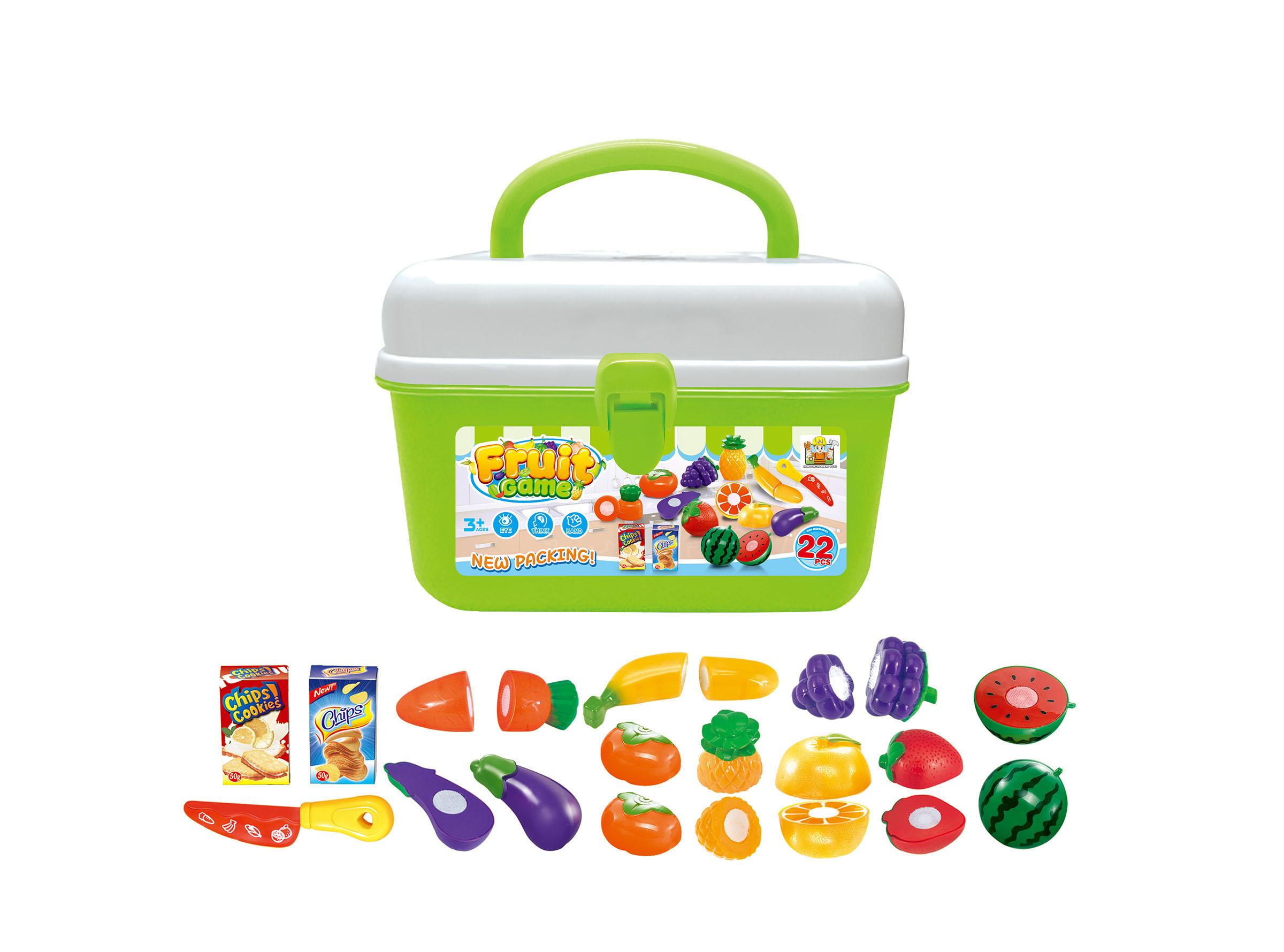 Hračka G21 Ovoce a zelenina v kufříku; HSP993198