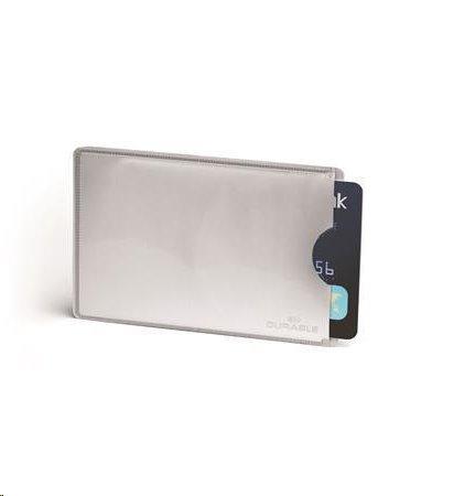 Durable Pouzdro na kreditní karty, stříbrná, RFID ochrana, 10 ks; 890023