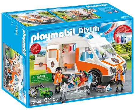 PLAYMOBIL City Life 70049 Ambulance se zvukem a světly; 132300