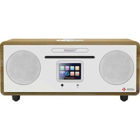 Rádio DAB+ FERGUSON i500 White/light wooden, DAB+, FM, Spotify, CD, WiFi, Bluetooth; SPR-FSM009WH