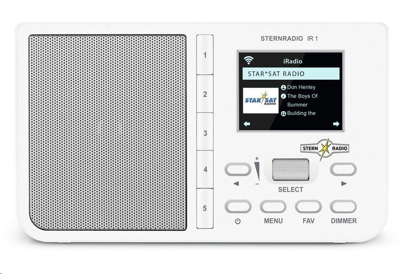 Rádio TechniSat STERNRADIO IR 1, bílé; T0001/3960 - TechniSat IR1