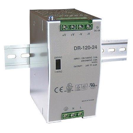 Hadex Zdroj 24V/120W spínaný DR-120 na DIN lištu ; 04220191