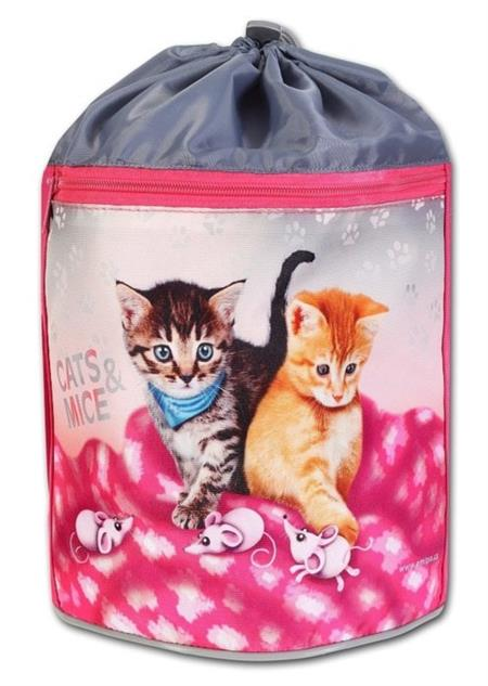 EMIPO Kulatý vak na záda 34x23cm Cats&Mice; 23984